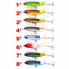 1pc fishing lure 13g/10cm topwater rotating tail vmc hooks bass fishing baits HU