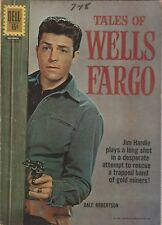 FOUR COLOR NUMBER 1215  TALES OF WELLS FARGO. DELL 1961.  TV RELATED. WESTERN