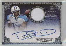 2010 Topps Five Star #155 Damian Williams Tennessee Titans Auto Football Card