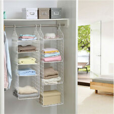 FULLLOVE® Folding Clothes Storage Racks Dormitory Closet for Students Wardrobe