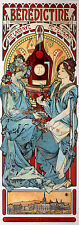 ALPHONSE MARIA MUCHA BENEDICTINE ARTIST PAINTING OIL CANVAS REPRO WALL ART DECO