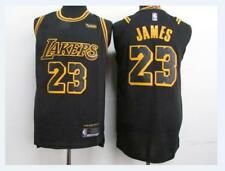 New Men's Los Angeles Lakers #23 LeBron James Basketball jersey black S-XXL
