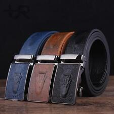 PaulRolands Mens Genuine Leather Belt Crocodile Alligator Automatic Buckle Strap