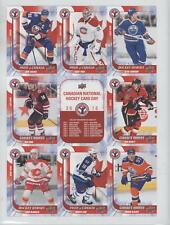 2016 Upper Deck National Hockey Card Day Canadian Uncut Sheet CAN1-6 Carey Price