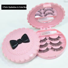 Gam-Belle® 3 pairs/box Natural Fashion False Eyelash Kit Cute Pink Storage Box