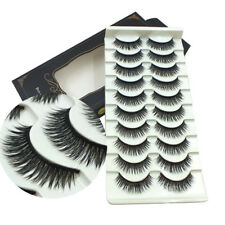 Gam-Belle® 10 pairs/lot Natural False Eyelashes Fake Long Beauty Makeup 3D Mink