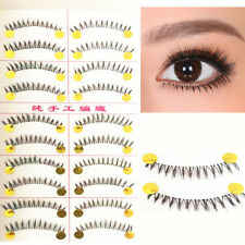 Gam-Belle® 10 pairs/set 100% Handmade Natural Lower False Eyelashes Bottom Tools