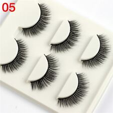 Gam-Belle® 3 pairs/set 3D Eyelashes Natural Tapered Terrier Soft False Lashes