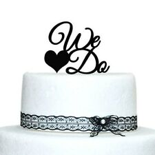 Buythrow® We Do Cake Topper Personalized Wedding Cake Toppers Decoration