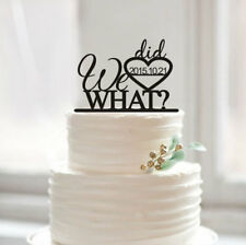 Buythrow® We Did WHAT Cake Toppers Funny Cake Topper Acrylic Design Personalized