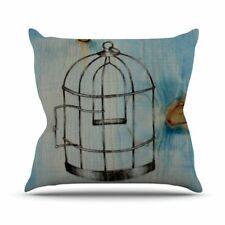 Kess InHouse Brittany Guarino Bird Cage Outdoor Throw Pillow 26x26