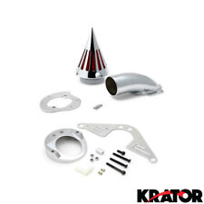 Yamaha RoadStar 1700 1600 Chrome Spike Intake Air Cleaner Filter Kit (1999+)