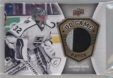2016 Upper Deck UD Game Jersey Patch GJ-JQ Jonathan Quick Los Angeles Kings Card
