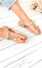 IKRUSH Women's Destiny Diamante Brooch Embellished Sandals  Size  in ROSE GOLD