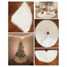 Plush Christmas Tree Skirts Xms Fur Carpet Winter Holiday Decoration Home Decor