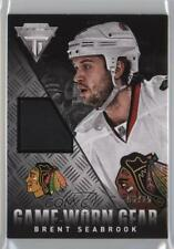 2013-14 Panini Titanium Game-Worn Gear Patch #GG-BSE Brent Seabrook Hockey Card