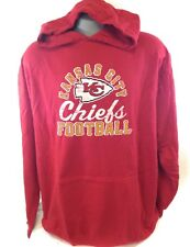 NEW Mens Majestic NFL Kansas City Chiefs Vintage Look Football Pullover Hoodie