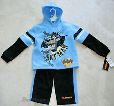 DC Comics Batman Bat Logo & Lego Hoody Hooded Sweatshirt & Jogger Pants Set 4T