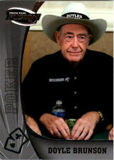 Doyle Brunson 2009 Press Pass Wheels Main Event Fusion #77 Bronze, Silver, Gold
