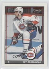 1991-92 O-Pee-Chee #54 Guy Carbonneau Montreal Canadiens Hockey Card