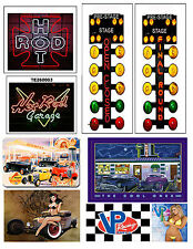 1:18 DRAG RACING GARAGE DECALS FOR DIECAST AND MODEL CARS DIORAMAS