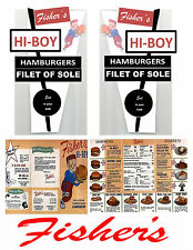 1:18 1:24 VINTAGE DRIVE-IN DECALS FOR DIECAST AND MODEL CARS & DIORAMA HIGH-BOY
