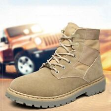 Men's Tactical Military Boots Outdoor Hiking Desert Combat Ankle Shoes Lace Up