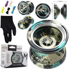Unresponsive M001/2 Magic YOYO Alloy Aluminum Yo Yo Bearing Reel+5 Strings+Glove