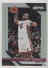 2018-19 Panini Prizm Silver #186 James Johnson Miami Heat Basketball Card