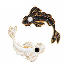 Cartoon Fish Enamel Pins Yin Yang Koi Brooches Hat Clothes Jewelry Accessories