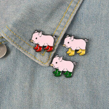 Rain Boots Pig Enamel Pin Cartoon Piggy Brooches Badge Gift for Children Jewelry