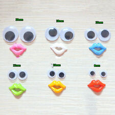 8-18mm Round Mixed Wiggly Wobbly Googly Eyes For DIY Scrapbooking Crafts CYC