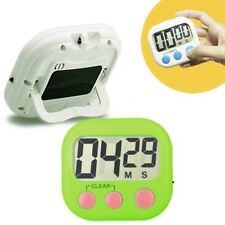 Magnetic LCD Digital Kitchen Cooking Timer Count-Down Up Large Clock Loud Alarm