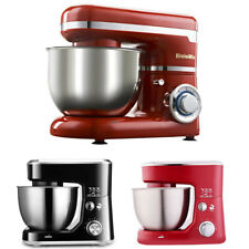 4L Electric Food Stand Mixer With Bowl Dough Hook Titl-Head Whisk Kitchen
