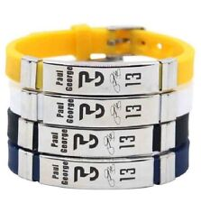 Paul George Basketball Bracelet Silicone Stainless Steel adjustable Wristband