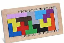 Wooden Tangram Brain Teaser Jigsaw Puzzle For Kids Intellectual Educational Game