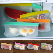 Containers BPA Free Food Storage Bag Silicone PEVA Fresh Bag Ziplock Pouch