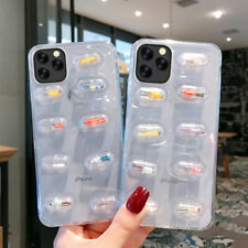 For iPhone 11 Pro Max XS XR X 8 7 6 Luxury Cute 3D Pill Pattern Soft Case Cover