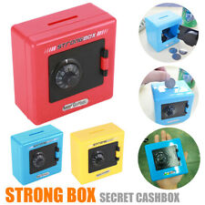 Combination Lock Money Coin Storage Box Code Cash Safe Case Piggy Bank Gift US