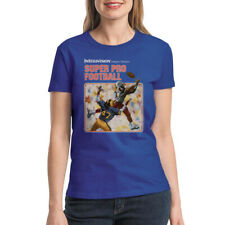 Intellivision Super Pro Sports Women's Royal Blue T-shirt NEW Sizes S-2XL