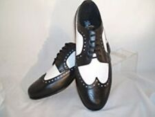 New Spectator Two Tone Patent Leather Lace Tuxedo Shoes