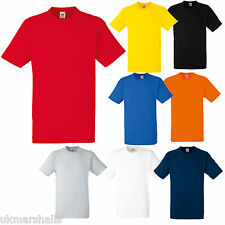 6  FRUIT OF THE LOOM HEAVY 100% COTTON T SHIRT S - XXL
