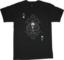 Ace of Spades shirt Skull Biker Playing Card T-shirt