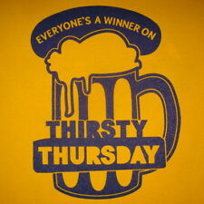 thirsty thursday vintage party beer funny mens drinking humor gift idea t shirt