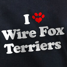 I LOVE WIRE FOX TERRIERS T-SHIRT terrier dog gift, new