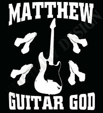 Guitar God Personalised T-Shirt Guitarist Your Name