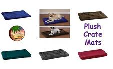 PLUSH CRATE MATS for DOGS - 5 Colors! 6 Sizes! So Soft