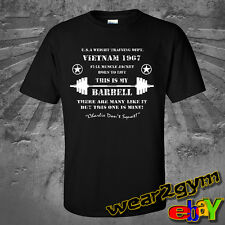 WEAR2GYM SCREEN PRINTED MMA GYM BODYBUILDING MUSCLE MOTIVATION SQUAT T Shirt