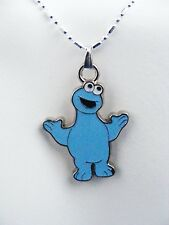 Cookie Monster small or large Cookie Necklace Sparkles