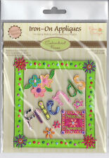 Iron-On Appliques w/Embroidered Frame (Various Themes)